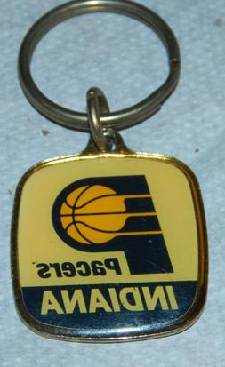 1990's Retro Indiana Pacers Enamel Metal Keychain NOS By Win