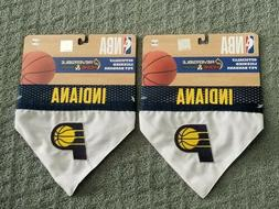 2) INDIANA PACERS PET BANDANAS REVERSIBLE HOME AND AWAY