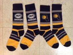 2 Pairs Indiana Pacers Socks Fox Sports SGA 2/8/20 BRAND NEW