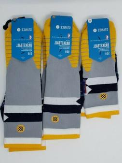 $26 Stance Indiana Pacers Core Crew Socks M559C5CCPA NBA Bas