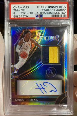 Aaron Holiday 2019-20 Select Tie Dye Patch Auto /25 PSA 8 Po