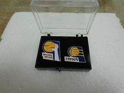 ABA Indiana Pacers Collectors Pins Set of 2 in with Case All