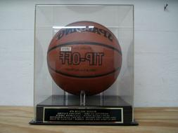 Reggie Miller Basketball Display Case With An Indiana Pacers
