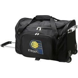 """DENCO INDIANA PACERS 22"""" 2-WHEELED CARRY-ON DUFFEL"""