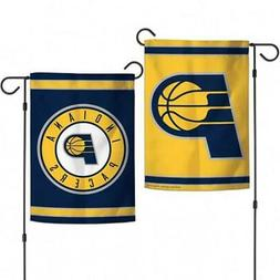 "Indiana Pacers 2 Sided 12.5"" x 18"" Garden Flag  NBA Banner S"