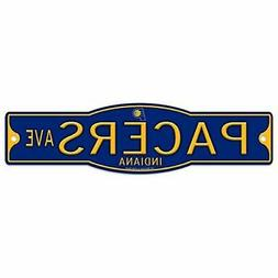 """Indiana Pacers 4"""" x 17"""" Plastic Street Sign NBA"""