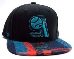 Indiana Pacers 47 Brand Southgate Plaid Visor Snapback NBA B