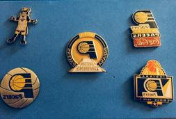 INDIANA PACERS 5 PIN SET HTF NO OFFERS ACCEPTED SHIP USA ONL