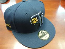 Indiana Pacers New Era 59FIFTY Fitted Hat Size 7 1/2 7.5 Nav
