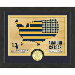 """Indiana Pacers Highland Mint 9"""" x 11"""" Country Bronze Coin Ph"""