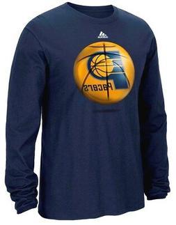 "Indiana Pacers Adidas NBA ""Logo Ball"" Premium Print L/S Men'"