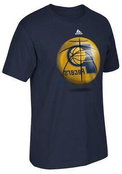 "Indiana Pacers Adidas NBA ""Logo Ball"" Premium Print S/S Men'"