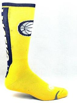 Indiana Pacers Basketball Gold & Navy Jump Key Curve Crew So