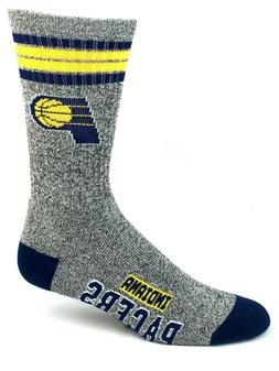Indiana Pacers Basketball Gray Marbled 4 Stripe Crew Socks