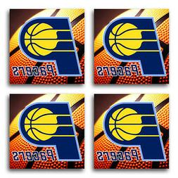 Indiana Pacers Basketball Rubber Square Coaster set  SRC2041