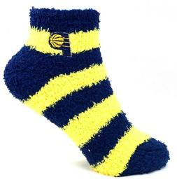 Indiana Pacers Basketball Yellow and Navy Striped Youth Fuzz
