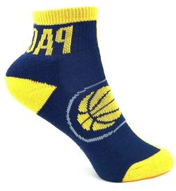 Indiana Pacers Basketball Yellow and Navy Youth Quarter Sock