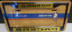 Indiana Pacers Black Laser Chrome License Plate Frame.    #K