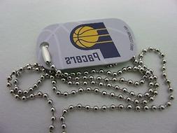 NBA Indiana Pacers Blue Logo Dog tag Necklace backpacks zipp