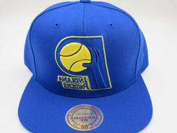 Indiana Pacers Blue Mitchell & Ness NBA Retro Vintage Snapba
