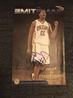 Indiana Pacers Gametime Program Magazine Signed By Danny Gra