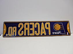 """Indiana Pacers Glitter Vinyl Street Sign. 3-3/4"""" x 16""""   04"""
