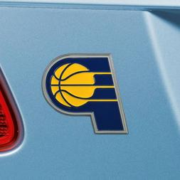 Indiana Pacers Heavy Duty Metal 3-D Color Auto Emblem