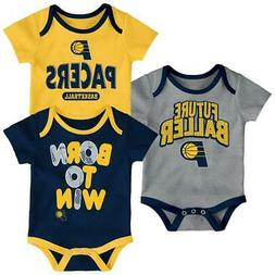 Indiana Pacers Infant Creeper Set Lil Tailgater 3 Pack