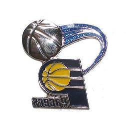 "Indiana Pacers Lapel Pin Glitter Trail 1"" High NBA Basketbal"