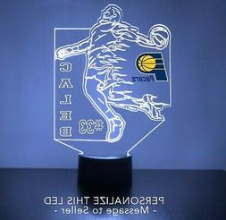 Indiana Pacers Night Light, LED Basketball Sports Fan Lamp,