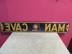 "Indiana Pacers Man Cave street sign 18 gauge metal 3 ft x 6"""