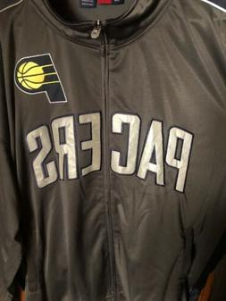 INDIANA PACERS Mens Jacket Size 4XL Zip Front Pockets Embroi