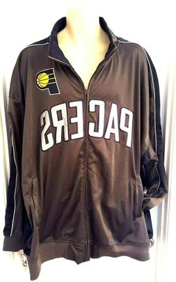 INDIANA PACERS Mens Jacket Size 5XL Zip Front Pockets Embroi
