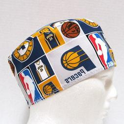 Indiana Pacers Mens Scrub Hat, Medical Skull Cap, Surgical C
