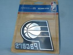 INDIANA PACERS   Metallic Silver AUTO EMBLEM   by Rico  NIP