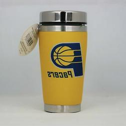 Indiana Pacers Mugzie NBA 16oz Travel Tumbler Coffee Mug Cup