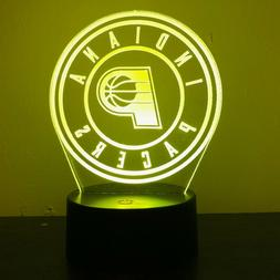 INDIANA PACERS NBA BASKETBALL 3D Acrylic LED 7 Colour Night