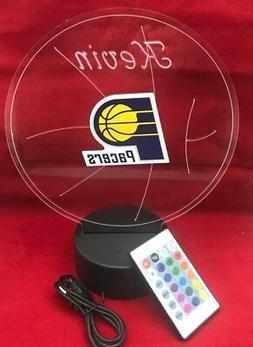 Indiana Pacers NBA Basketball Light Up Lamp LED Light, Remot