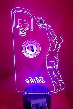 Indiana Pacers NBA Basketball Player Light Up Lamp LED Remot