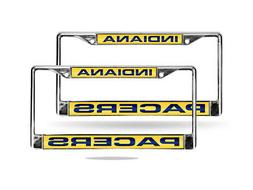 Indiana Pacers NBA Chrome Metal  Laser Cut License Plate Fra