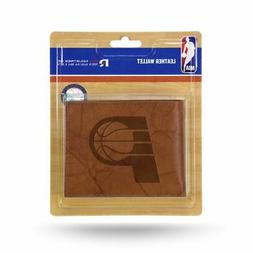 Indiana Pacers NBA Embossed Brown Leather Billfold Wallet