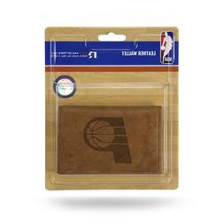 Indiana Pacers NBA Embossed Brown Leather Trifold Wallet