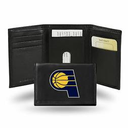 Indiana Pacers NBA Embroidered Team Logo Black Leather Trifo