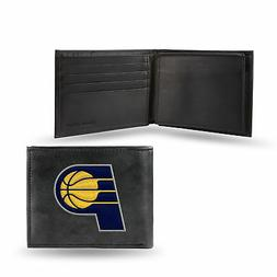 Indiana Pacers NBA Embroidered Team Logo Black Leather Billf