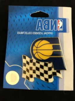 INDIANA PACERS NBA/INDY Race Flag Hat/Lapel Pin NEW-Licensed
