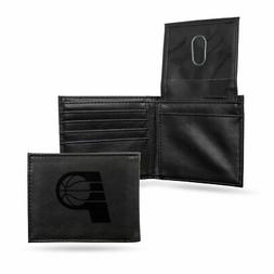 Indiana Pacers NBA Laser Engraved Black Billfold Wallet