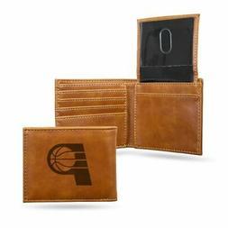 Indiana Pacers NBA Laser Engraved Brown Billfold Wallet
