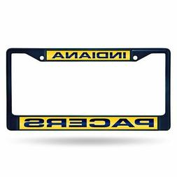 Indiana Pacers NBA Navy Painted Metal Laser Cut License Plat