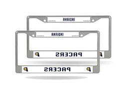Indiana Pacers NBA  Chrome Metal License Plate Frames
