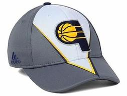 """Indiana Pacers adidas NBA """"Slasher"""" Men's Flex Fitted Cap Ha"""